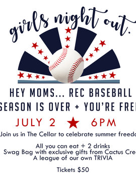 Girls Night Out : End of Baseball Season