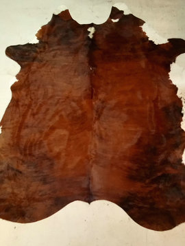 Red + Brown + Brindle Cowhide 2458