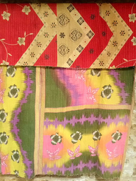 Kantha Sari Throw #35