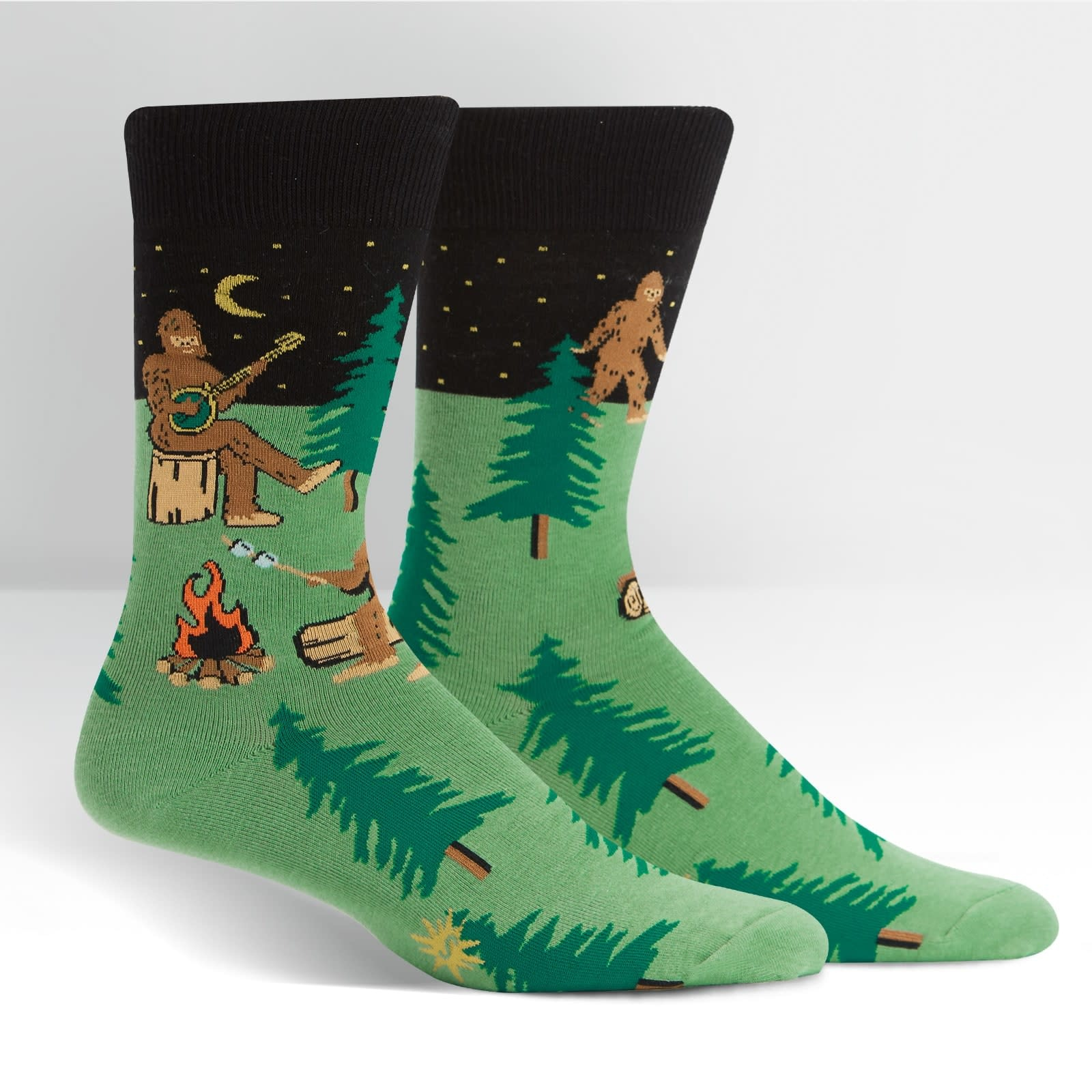 Sasquatch Camp Out Crew Socks