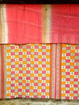 Kantha Sari Throw #38