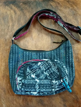 Guatemalan Black and White Purse Bag