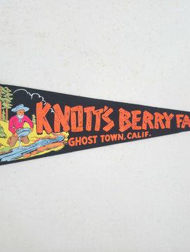 Vintage Knott's Berry Farm Pennant