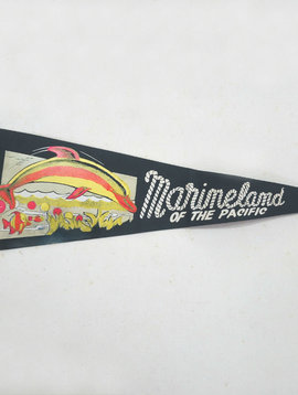 Vintage Marineland of the Pacific Pennant
