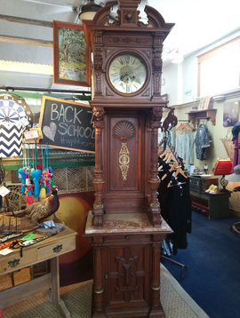Vintage German Mahogany Grandfather Clock