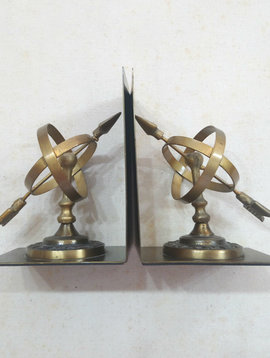 Brass Sun Dial Bookends