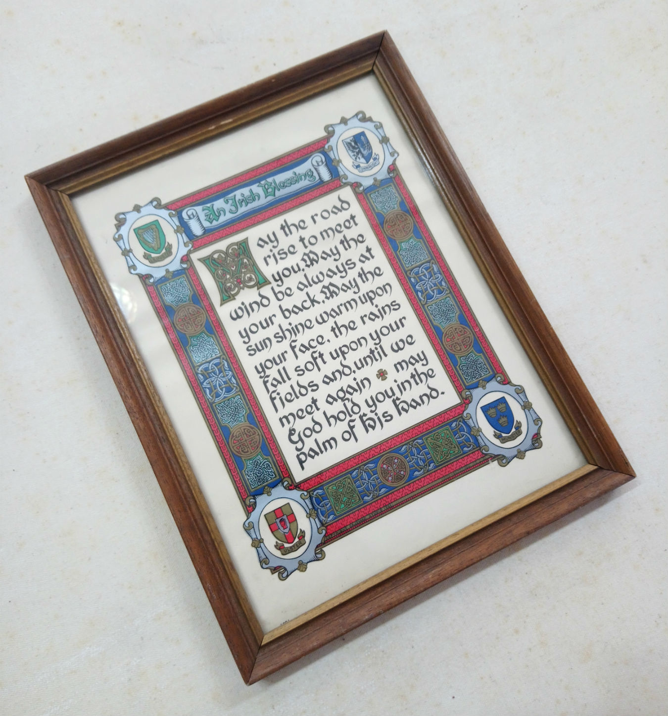 May The Road Framed Irish Blessing
