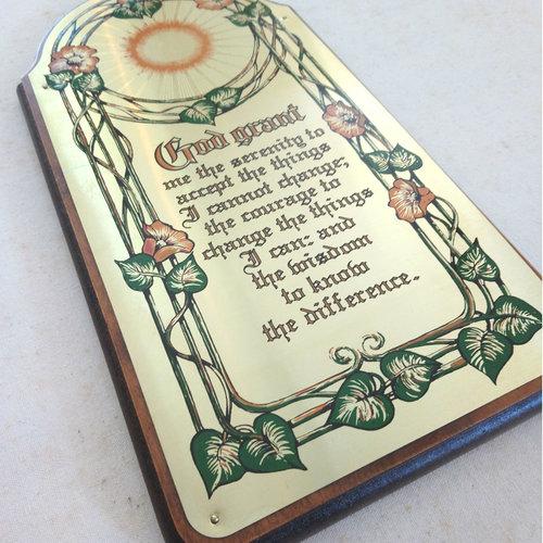 Serenity Prayer Plaque