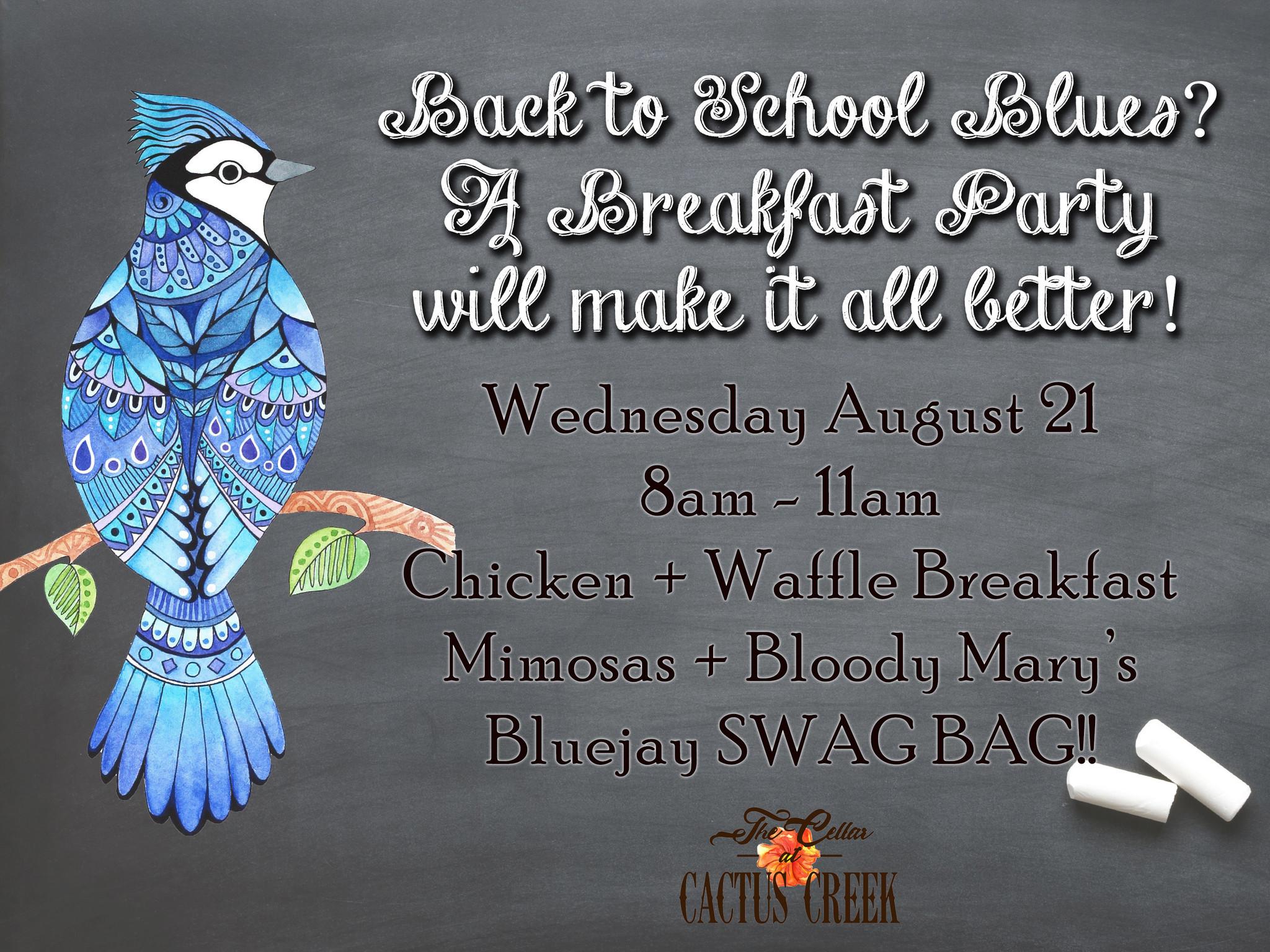 Back to School Blues Breakfast