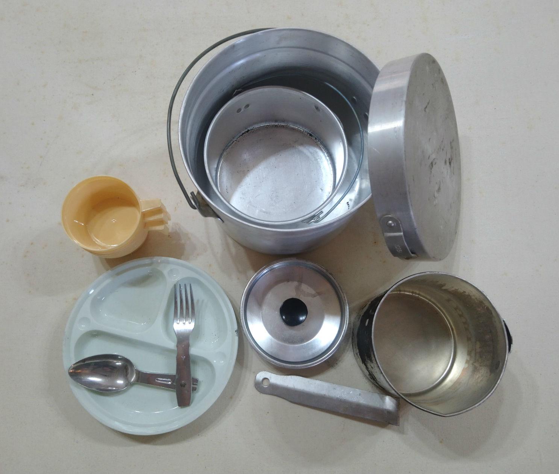 Vintage Aluminum Mess Kit