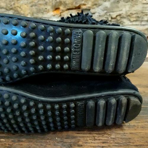Cactus Creek Minnetonka Black 5 Layer Fringe Knee High Boot size 8