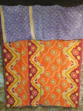 Kantha Sari Throw #60