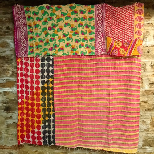Kantha Sari Throw #57