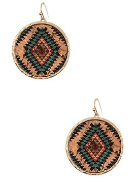 Cactus Creek Gold & Turquoise Tribal Earring