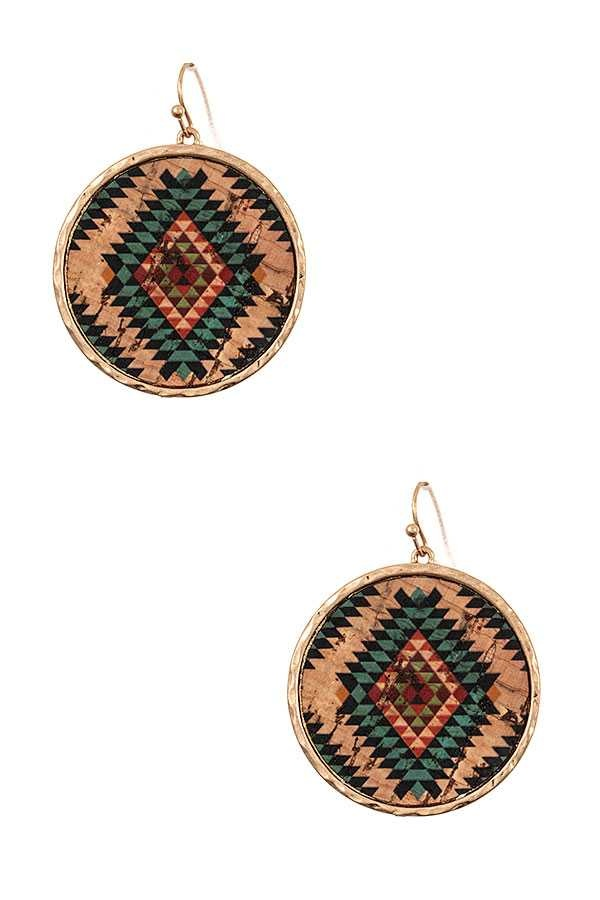 Cactus Creek Gold & Turquoise Tribal Earring