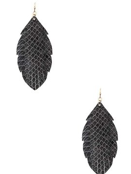 Cactus Creek Gray Fringe Leaf Earring