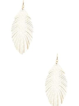 Cactus Creek Ivory Fringe Leaf Earring