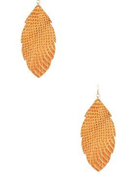 Cactus Creek Gold Fringe Leaf Earring