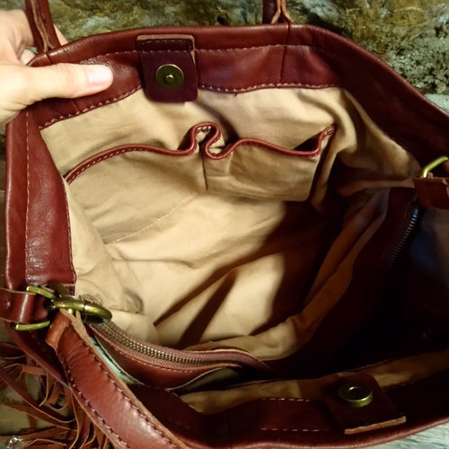 Cactus Creek Lucky Brand Leather Fringe Bag