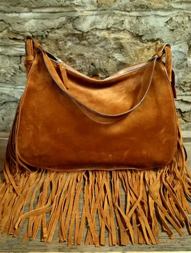 Cactus Creek D2 Leather Fringe Hobo Bag