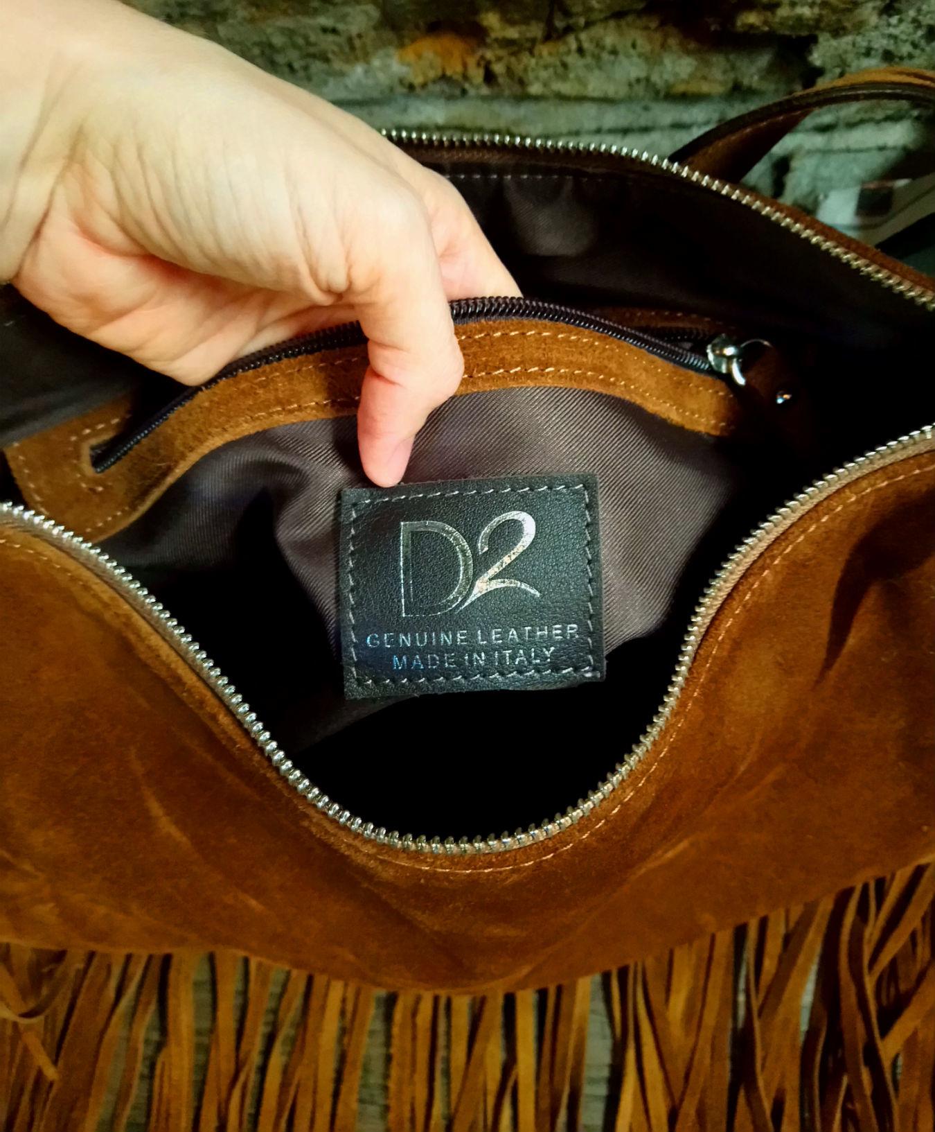 Cactus Creek D2 Leather Fringe Hobo Bag