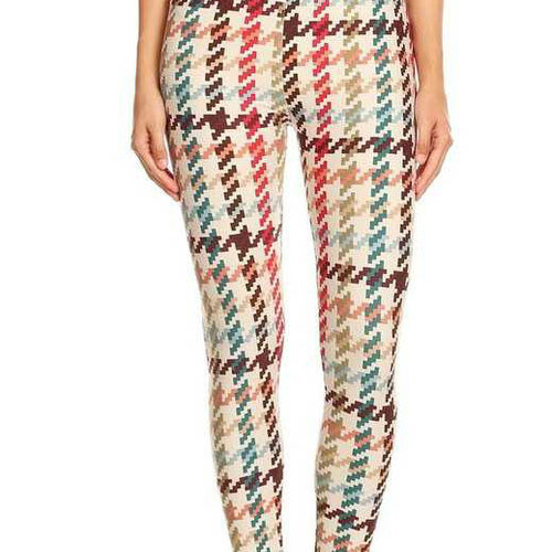 Cactus Creek Ivory Hounds Tooth Legging