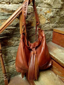 Cactus Creek McFadin Leather Drawstring top Bag