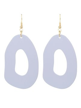 Soft Gray Ring Earring