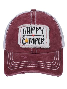 Happy Camper Arrow Cap Burgundy