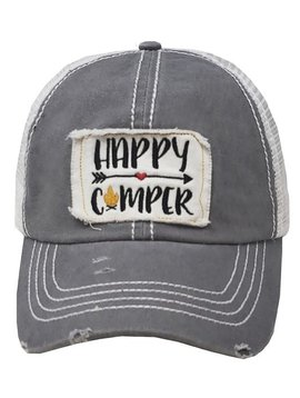 Happy Camper Arrow Cap Gray