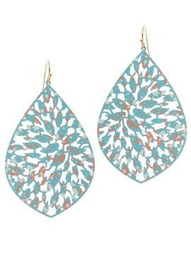 Turquoise Filigree Earring