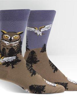 Owl Mountain Crew Socks