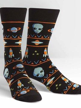 Alien Sweater Sighting Crew Socks
