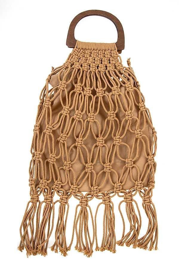 Macrame Fringe Bag