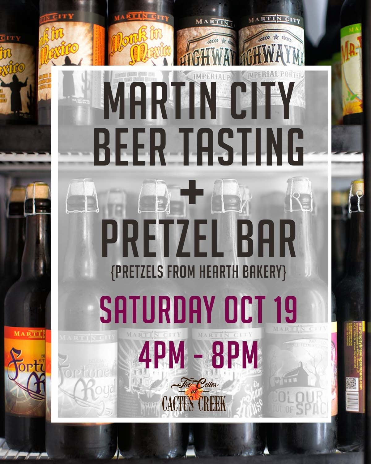 Pretzel Bar + Martin City Beer Tasting