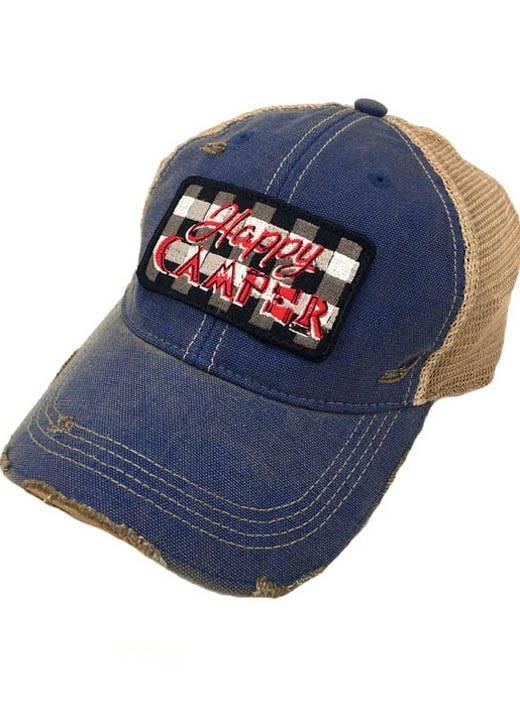 Buffalo Plaid Happy Camper Cap
