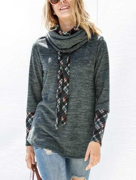 Double Cowl Neck Sweater