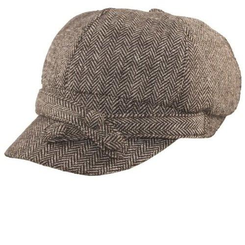 Herringbone Newsboy Cap