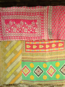 Kantha Sari Throw #71