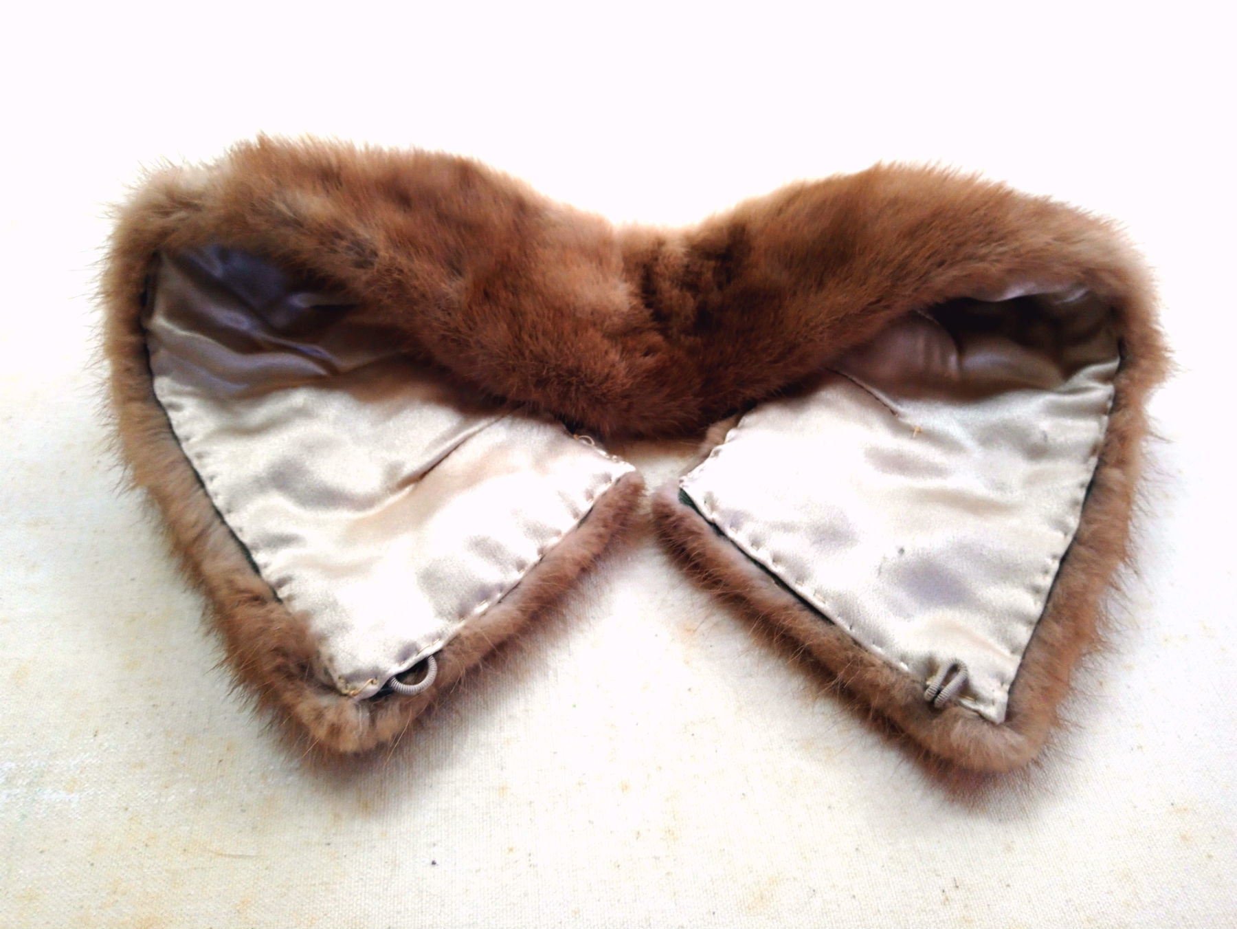 Vintage Fur Shawl Collar