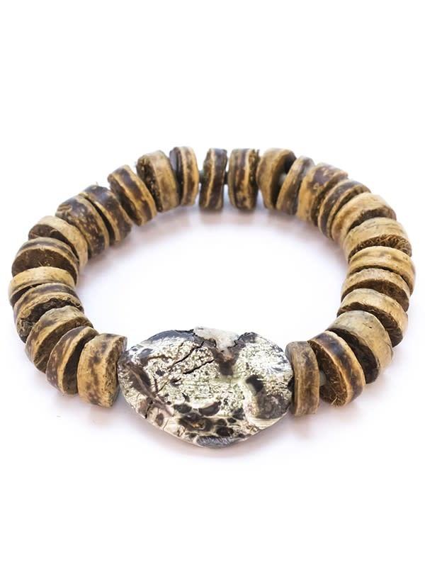 Sedona Wood + Stone Stretch Bracelet