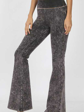Mineral Wash Flared Yoga Pants
