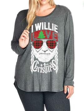 CURVY I Willie Love Christmas Top