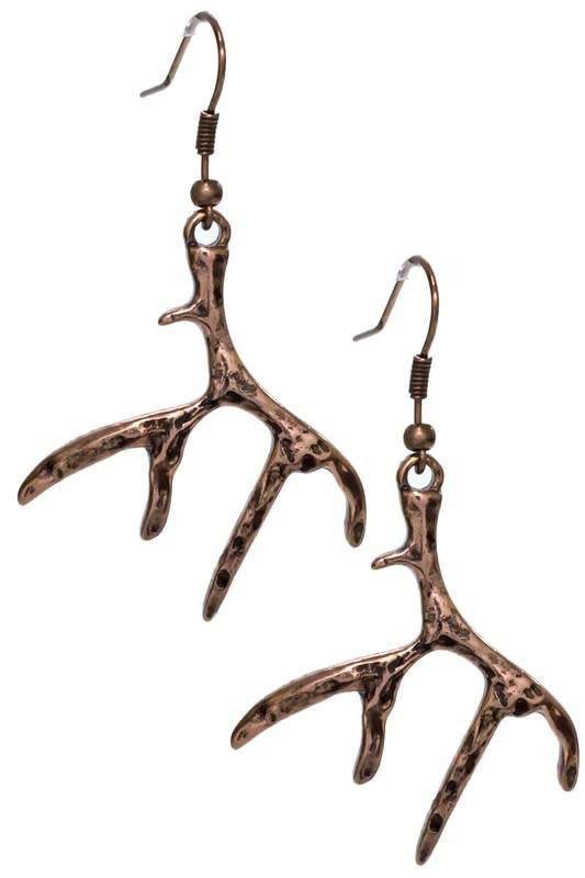 Deer Antler Earrings