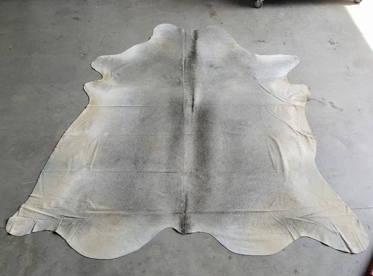 Solid Gray Cowhide