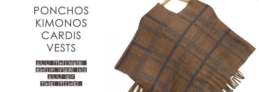 Kimonos/Ponchos/Cardis/Vests