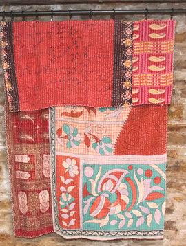 Kantha Sari Throw #103