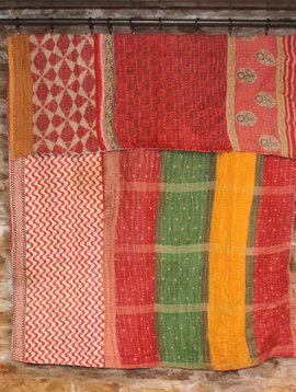 Kantha Sari Throw #104
