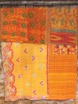 Kantha Sari Throw #108