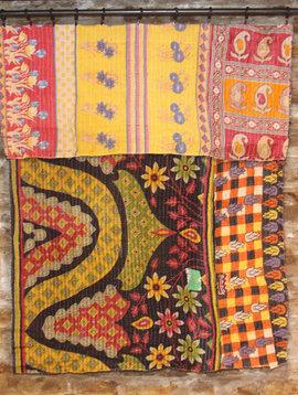Kantha Sari Throw #110